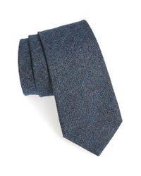 Michael Bastian   Blue Solid Silk & Cotton Tie for Men   Lyst