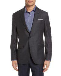 Ted Baker - Gray Konan Trim Fit Wool Blazer for Men - Lyst