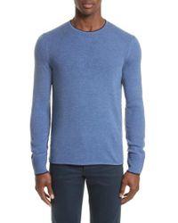 Rag & Bone | Blue Merino Wool Blend Pullover for Men | Lyst