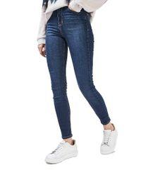 TOPSHOP | Blue Jamie High Waist Skinny Jeans | Lyst