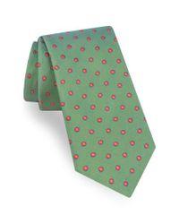 Ted Baker | Green Dot Silk Tie for Men | Lyst