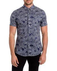 7 Diamonds - Blue Clarity Print Woven Shirt for Men - Lyst