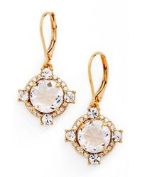 Kate Spade - Metallic Crystal Drop Earrings - Lyst