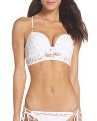 Robin Piccone | White Aria Bustier Bikini Top | Lyst
