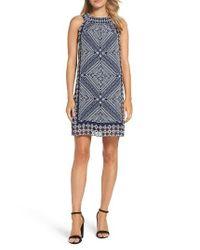 Taylor Dresses | Blue Scarf Print Shift Dress | Lyst