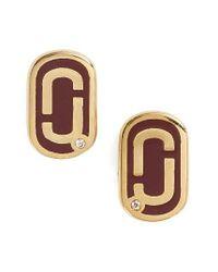 Marc Jacobs | Metallic Icon Enamel Stud Earrings | Lyst