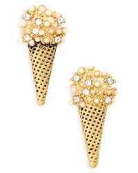 Marc Jacobs | Metallic Ice Cream Cone Stud Earrings | Lyst