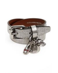 Alexander McQueen | Metallic Safety Pin Wrap Bracelet | Lyst