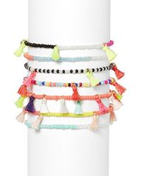 BaubleBar | Multicolor Suri Set Of 7 Stretch Bracelets | Lyst