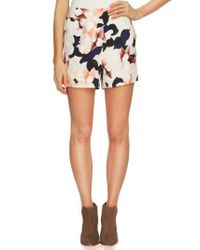 1.STATE | Multicolor Floral Print Flat Front Shorts | Lyst