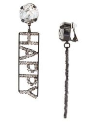Ashley Williams | Metallic Happy Crystal Statement Earrings (nordstrom Exclusive) | Lyst