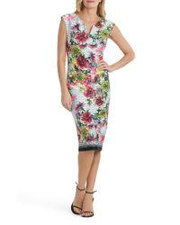 Eci | Multicolor Print Body-con Dress | Lyst