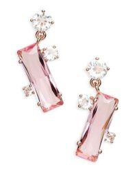 Ted Baker | Pink Broklyn Baguette Drop Earrings | Lyst