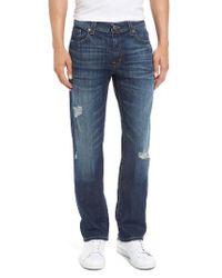 Fidelity - Blue Fidelity Jimmy Ripped Slim Straight Leg Jeans for Men - Lyst