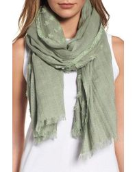 Eileen Fisher | Green Organic Cotton Scarf | Lyst