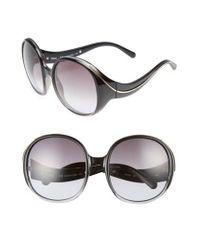 Chloé | Multicolor Nelli 59mm Gradient Lens Round Sunglasses - Gradient Blue/ Turtledove | Lyst
