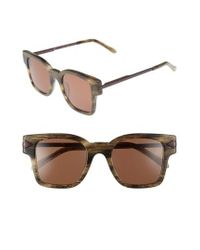 Karen Walker | Brown Julius 49mm Square Sunglasses - Horn | Lyst