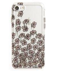Rebecca Minkoff - Glitter Flower Iphone 7 Case - Metallic - Lyst