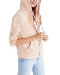 Madewell | Pink Embroidered Rainbow Zip Hoodie | Lyst