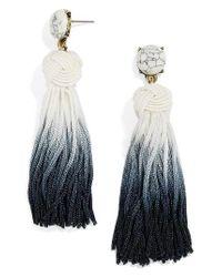 BaubleBar | Black Sarina Ombre Tassel Earrings | Lyst