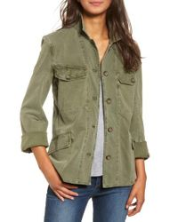 James Perse | Green Utility Jacket | Lyst
