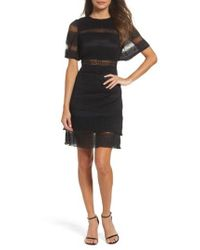 Foxiedox - Black Angelique Open Back Lace Dress - Lyst