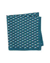 Ted Baker - Blue Geometric Silk Pocket Square for Men - Lyst