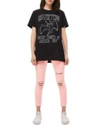 TOPSHOP | Black By And Finally Led Zeppelin Tee | Lyst