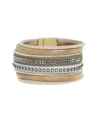 Panacea - Gray Faux Leather Bracelet - Lyst