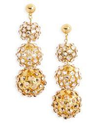Frasier Sterling | Metallic Sunset Swarovski Crystal Drop Earrings | Lyst