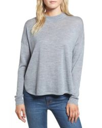 Madewell - Blue Mock Neck Boxy Pullover - Lyst