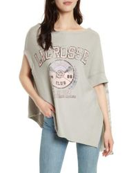 Free People - Gray Off Side Pullover - Lyst