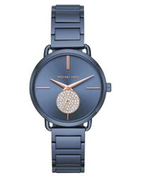 Michael Kors | Blue Portia Round Bracelet Watch for Men | Lyst