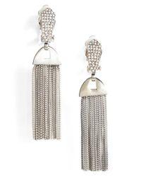 Vince Camuto | Metallic Clip-on Tassel Drop Earrings | Lyst