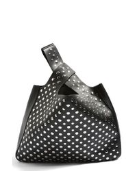 TOPSHOP - Black Studded Faux Leather Shoulder Bag - Lyst