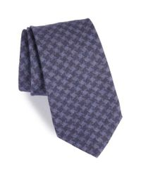 Michael Bastian | Blue Houndstooth Wool Tie for Men | Lyst
