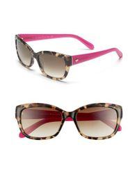 Kate Spade | Black Kate Spade 'johanna' 53mm Retro Sunglasses - Camel Tortoise | Lyst