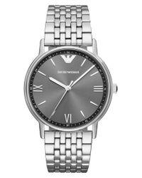 Emporio Armani - Metallic Round Bracelet Watch for Men - Lyst