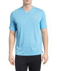 Under Armour Blue Regular Fit Threadborne T-shirt for men