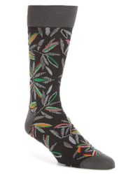 Bugatchi - Blue Tropical Socks for Men - Lyst