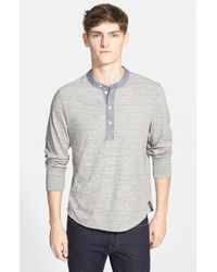 Todd Snyder - Gray Classic Henley for Men - Lyst
