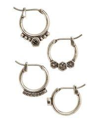 Luv Aj - Metallic Full Bloom Set Of 4 Hoop Earrings - Lyst