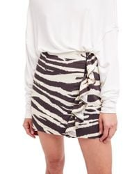 Free People | Multicolor Ruffle Babe Miniskirt | Lyst