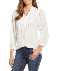 Caslon - White Caslon Curved Yoke Dobby Shirt - Lyst