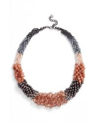 Nakamol - Multicolor Braided Stone Statement Necklace - Lyst