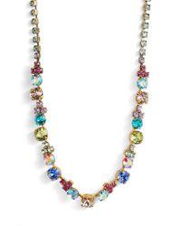 Sorrelli - Metallic Limonium Crystal Necklace - Lyst