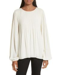 Elizabeth and James - White Grove Pleated Blouse - Lyst