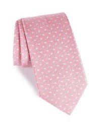 Ferragamo - Pink Eloise Print Silk Tie for Men - Lyst
