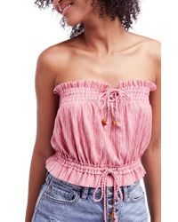 Free People - Multicolor Peppermint Tube Top - Lyst