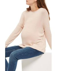 TOPSHOP | Natural Tie Back Maternity Sweater | Lyst